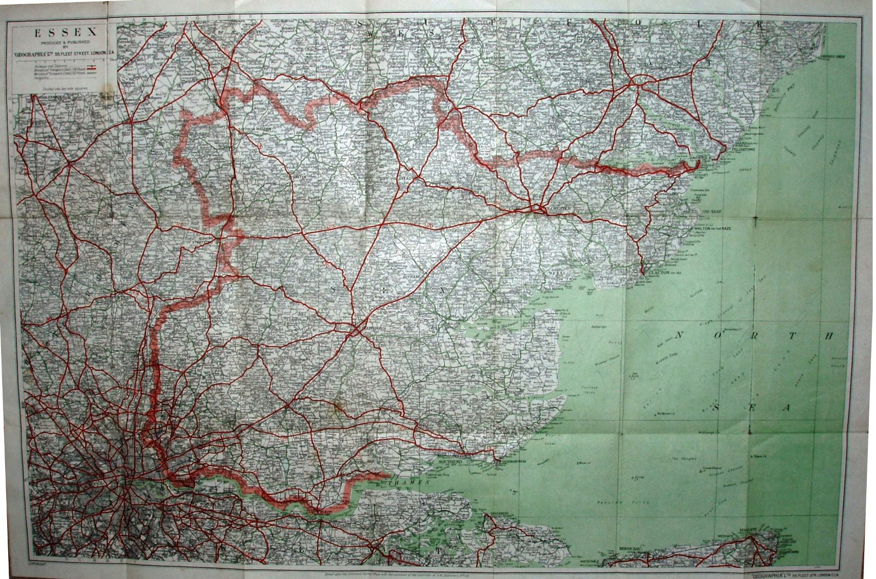 Thumbnail: Geographia Three inch map 1937